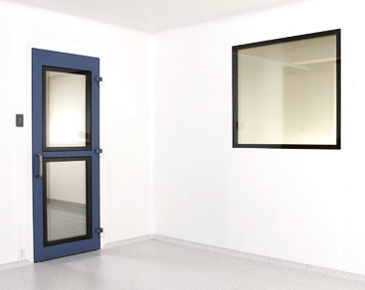 narrow cleanroom door