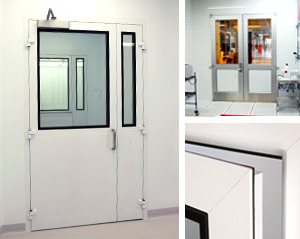 cleanroom access panel/door