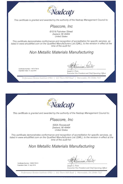 NADCAP Certification, Non-Metallic Composities Manufacturing